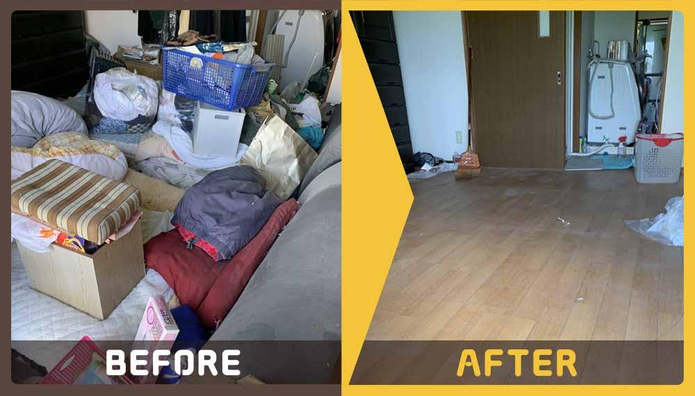 お部屋がゴミ屋敷状態になってしまいお困りのお客様からご依頼いただきました。