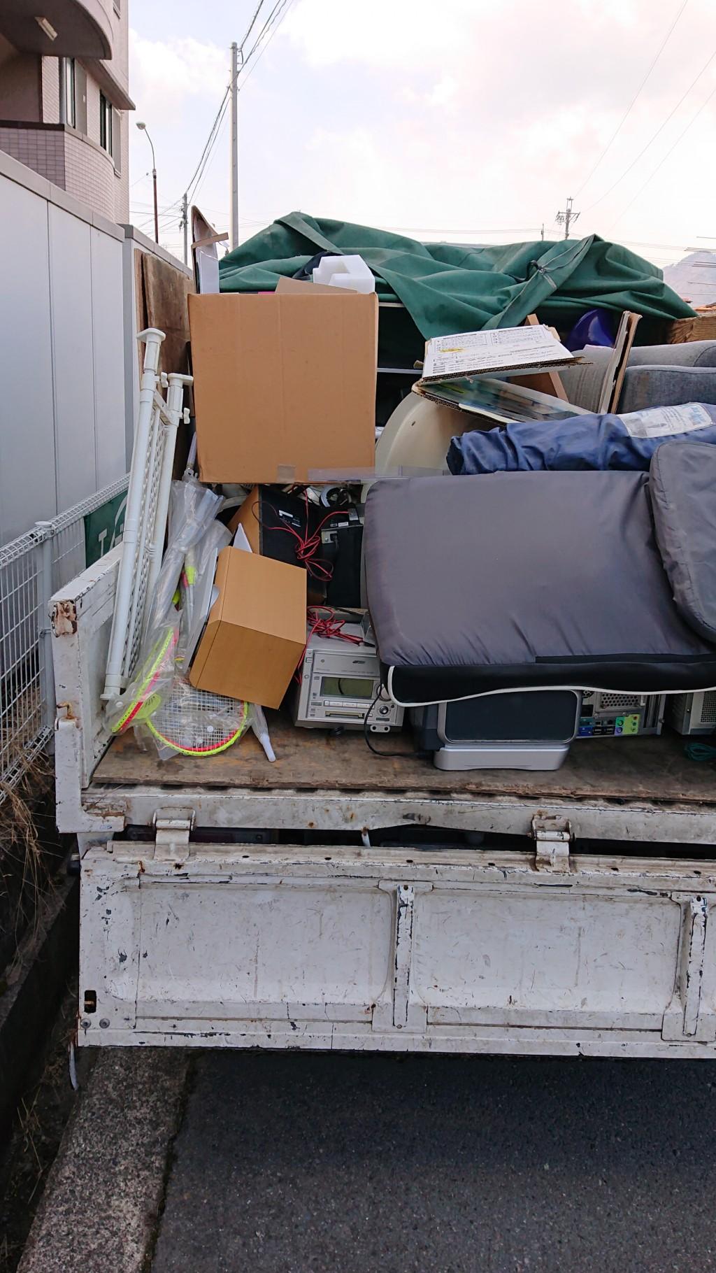【木曽町】たくさんの不用品回収☆希望の土日で割増料金もなく回収してもらえたとお喜び頂けました。