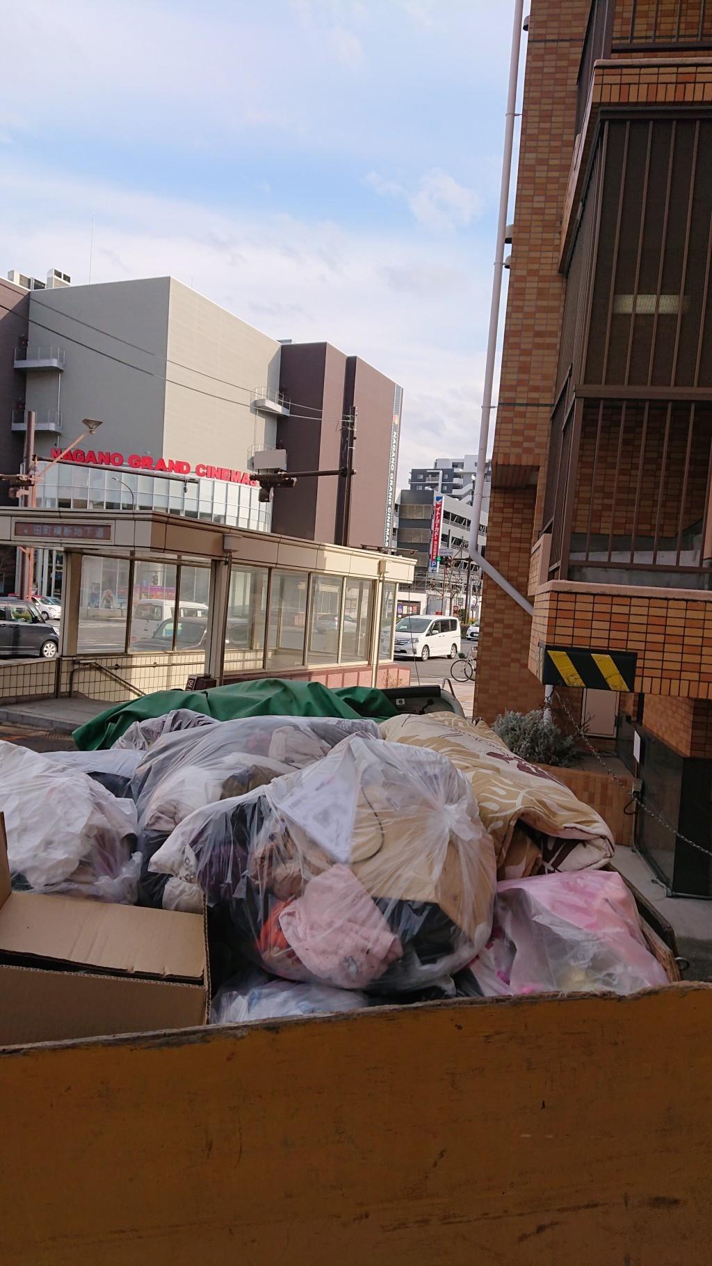 【長野市三輪田町】1Kの片付けと不用品処分☆散らかった状態でも綺麗に片付けさせていただきました!