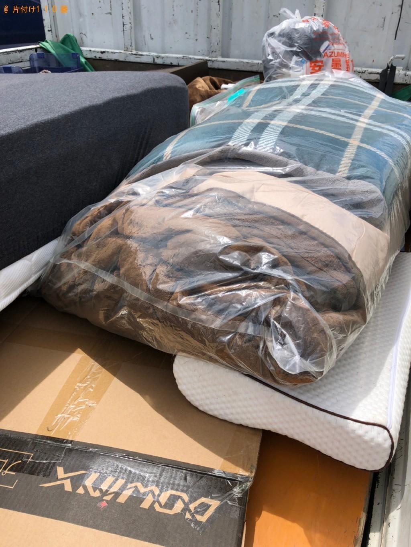 【上伊那郡箕輪町】シングルベッドマットレス、布団の回収・処分ご依頼