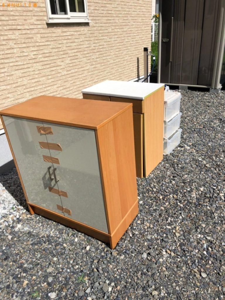 【松本市】遺品整理で本棚、ゴミ箱、布団、衣装ケースの回収・処分ご依頼