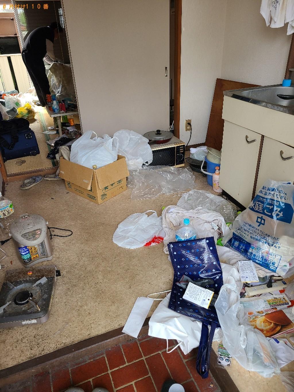 【長野市】テレビ、衣装ケースの回収とハウスクリーニングご依頼
