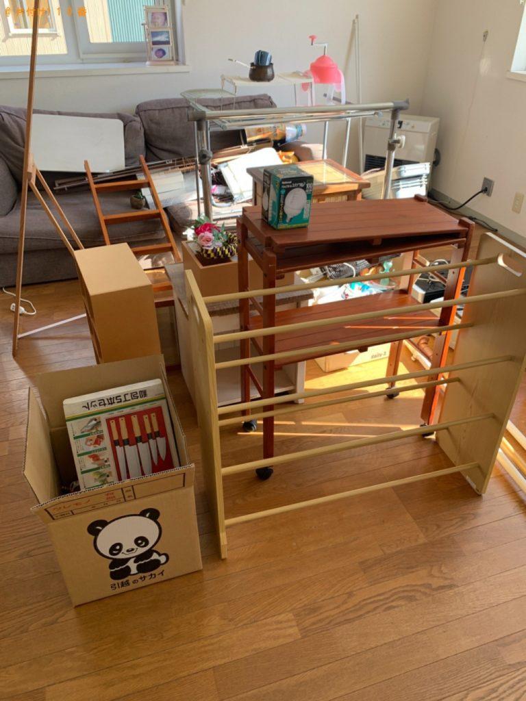 【上田市】三人掛けソファー、カラーボックス、ラック、布団等の回収