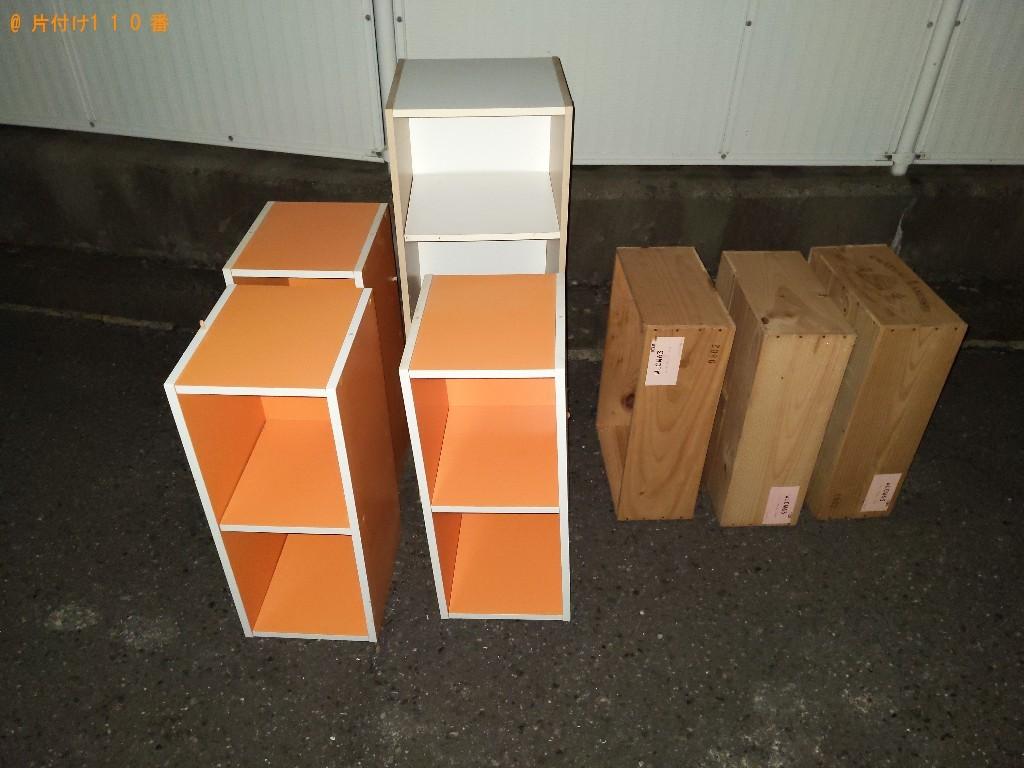 【長野市】ワインを入れる木の箱、本棚の回収・処分ご依頼