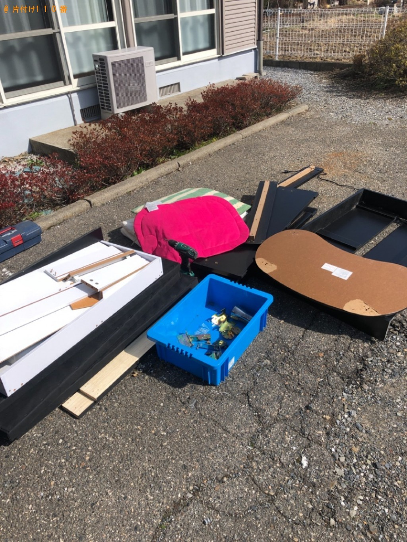 【松本市】ダイニングテーブル、椅子、収納棚等の回収・処分ご依頼