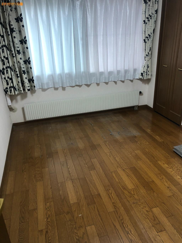 【松本市】マットレス付きシングルベッド、タンスの回収・処分ご依頼